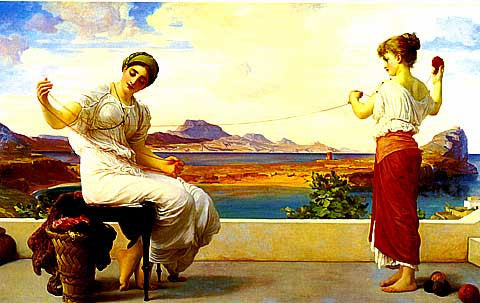 Frederic Lord Leighton-Winding The Skein