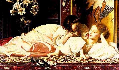 Frederic Lord Leighton-Mother And Child