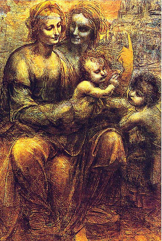 Leonardo Da Vinci-Virgin And Child With St Anne