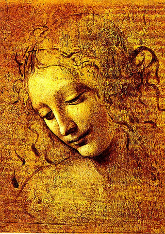 Leonardo Da Vinci- Head Of A Girl