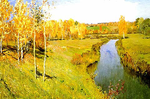 Isaac Levitan-Golden Autumn