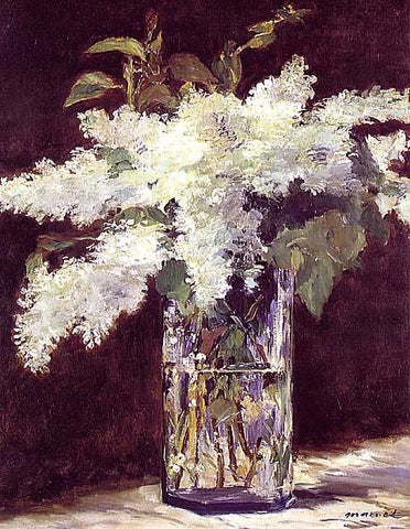 Edouard Manet-Lilacs in a Vase