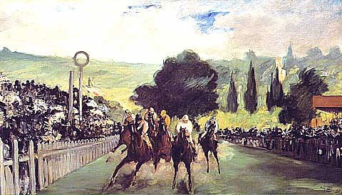 Edouard Manet-Races at Longchamp