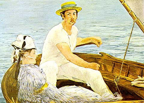Edouard Manet-Boating at Argenteuil