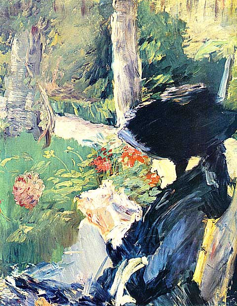 Edouard Manet-Manets mother in the garden
