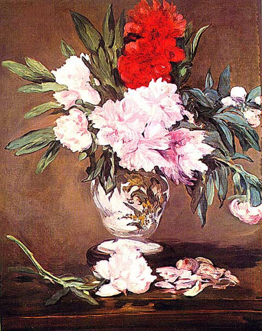 Edouard Manet- Peonies in a Vase