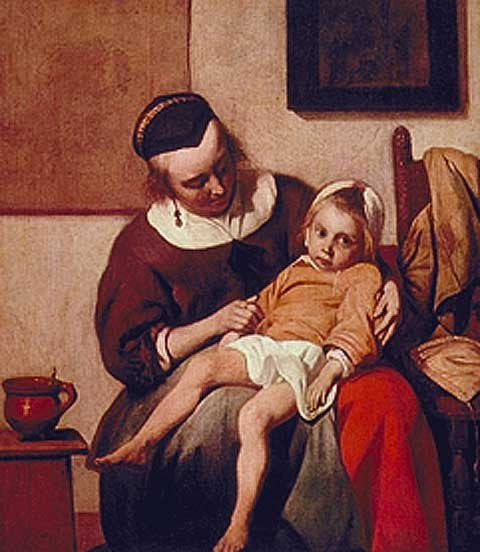 Gabriel Metsu-Sick Child