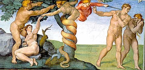 Michelangelo-The Fall and Expulsion