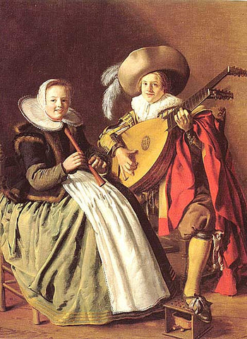 Jan Miense Molenaer-The Duet
