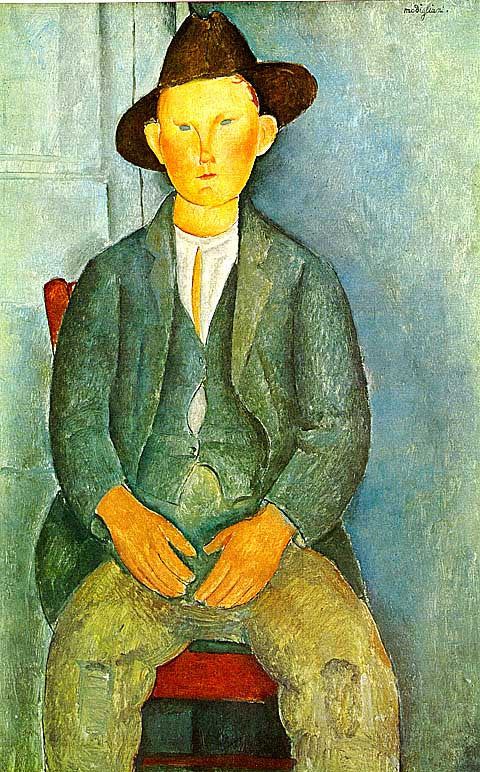 Amadeo Modigliani-The Little Peasant