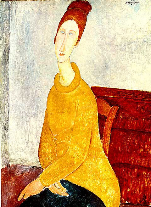 Amadeo Modigliani-Yellow Sweater