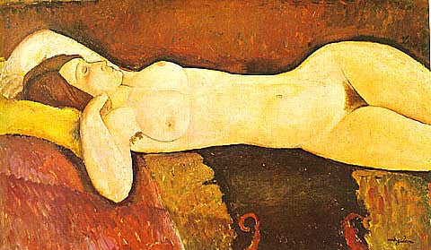 Amadeo Modigliani-Reclining Nude