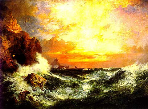Thomas Moran-Sunset