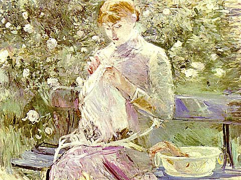 Berthe Morisot-Woman Sweeping In The Garden