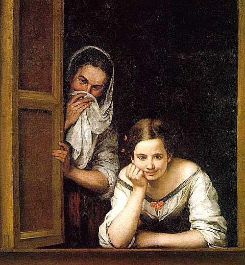 Bartolome Esteban Murillo-Two Women at a Window