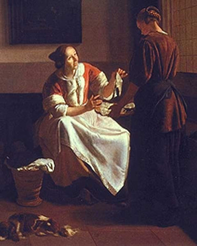 Jacob Ochtervelt-Lady And Maid