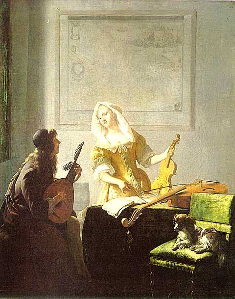 Jacob Ochtervelt-The Music Lesson