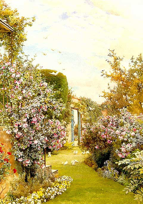 A. W. Parsons-Garden With China Roses