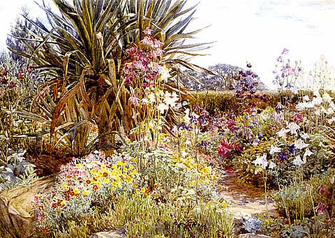 A. W. Parsons-Rock Garden And Columbines