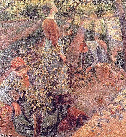 Camille Pissarro-Apple-Picking