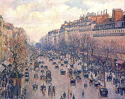 Camille Pissarro-Boulevard Montmartre Afternoon