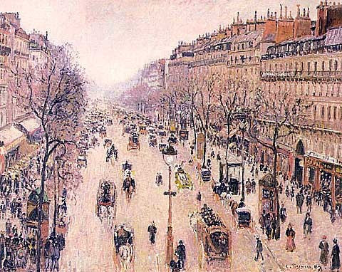 Camille Pissarro-Boulevard Montmartre Morning