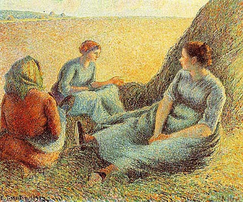 Camille Pissarro-Haymakers Resting
