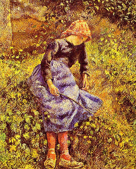 Camille Pissarro-Peasant Girl with a Stick