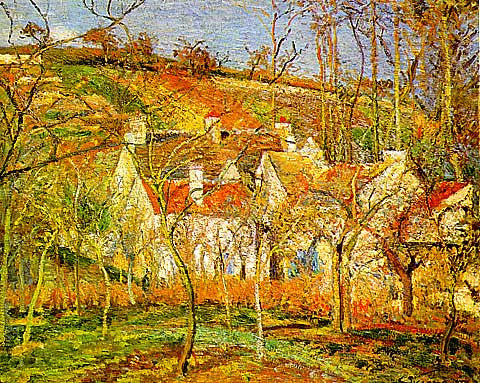 Camille Pissarro-Red Roofs