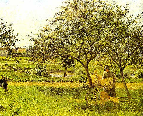 Camille Pissarro-The Wheelbarrow