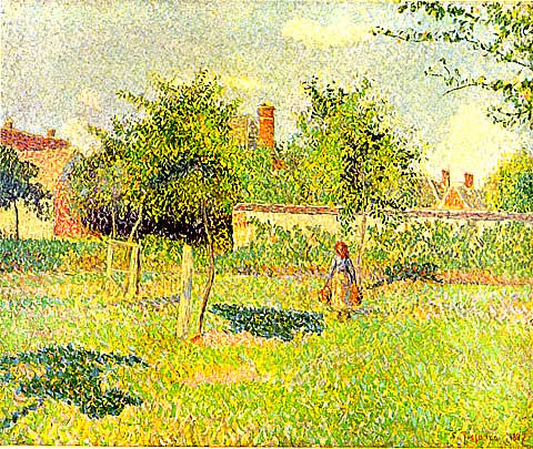 Camille Pissarro-Woman In An Orchard