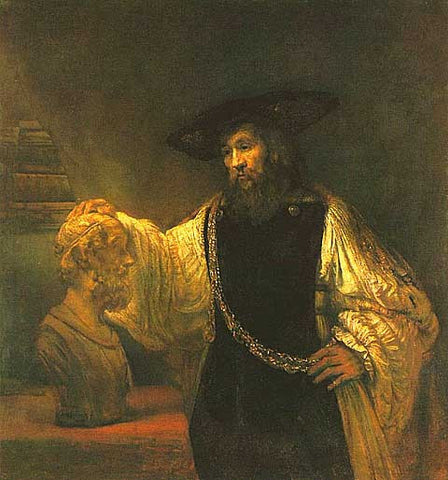 Rembrandt-Aristotle contemplating a bust of Homer