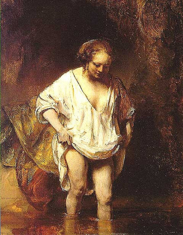 Rembrandt-Hendrickje Bathing in a River