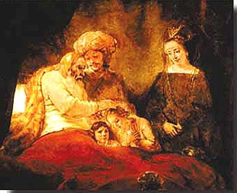 Rembrandt-Jacob Blessing