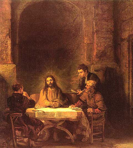 Rembrandt-Christ At Emmaus #1