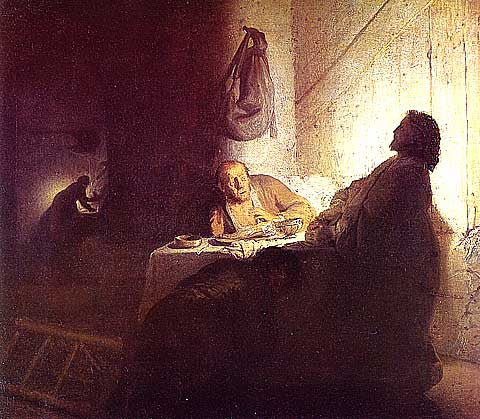 Rembrandt-Christ At Emmaus