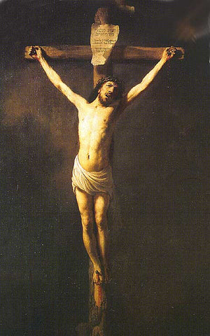 Rembrandt-Christ On The Cross