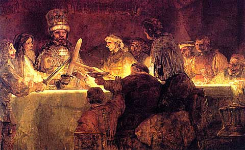 Rembrandt-The Conspiracy Of Tulious Civilis