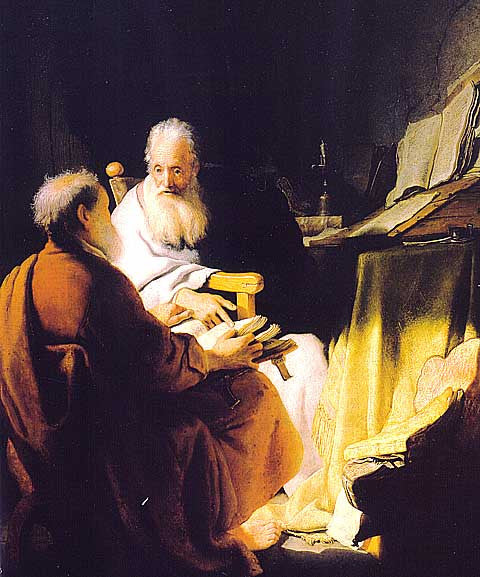 Rembrandt-Two Old Men Disputing