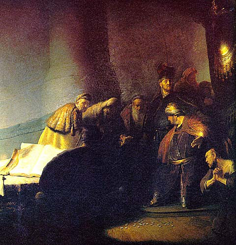 Rembrandt-Judas Returning The Silver