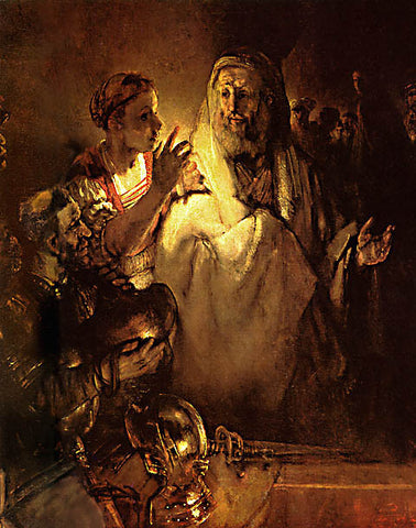 Rembrandt-The Denial Of Peter