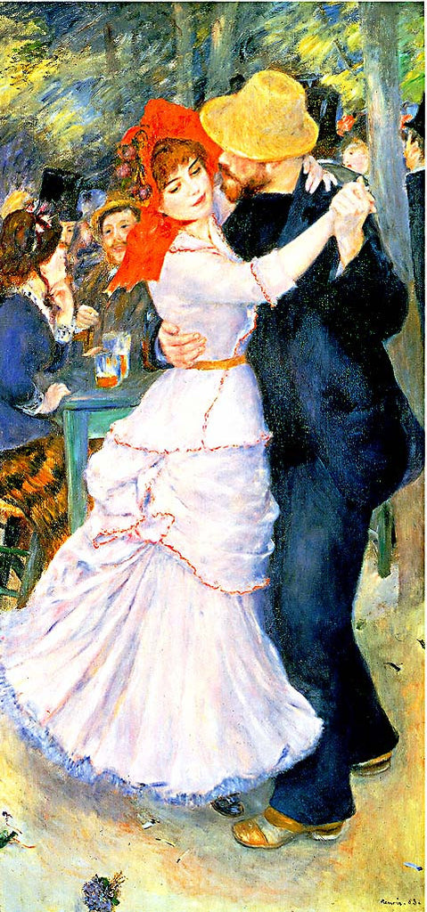 Pierre Auguste Renoir-Dance At Bougivar