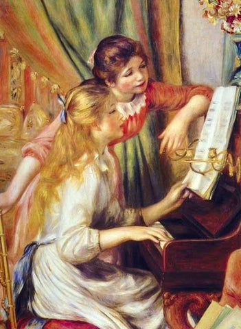 Pierre Auguste Renoir-Girls At The Piano