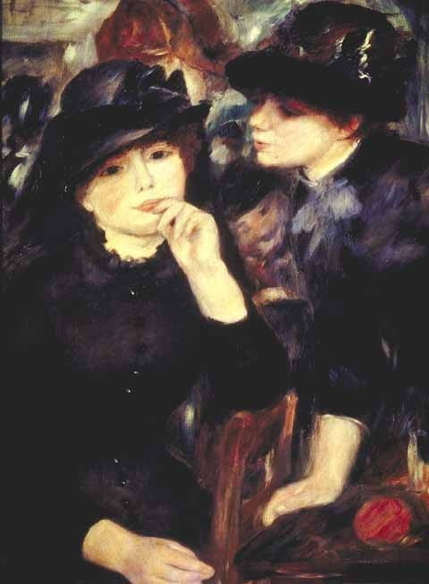 Pierre Auguste Renoir-Girls In Black