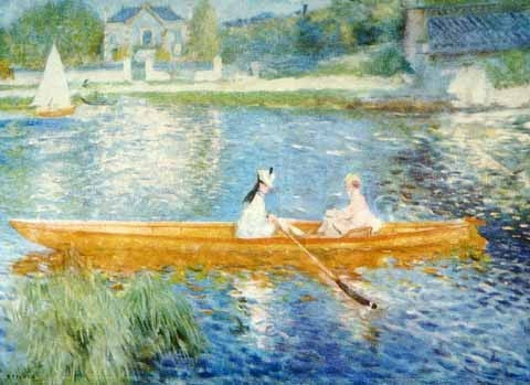 Pierre Auguste Renoir-The Skiff