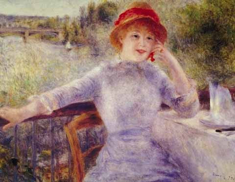 Pierre Auguste Renoir-Woman Outdoors
