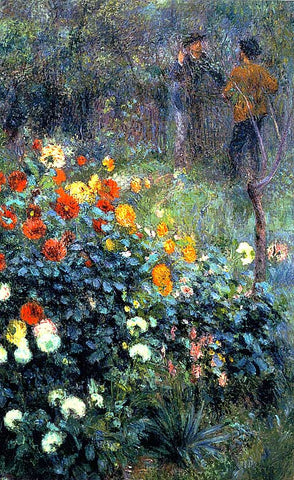 Pierre Auguste Renoir-Garden In The Rue Cortot