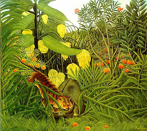 Henri Rousseau-Fight Between A Tiger And A Buffalo