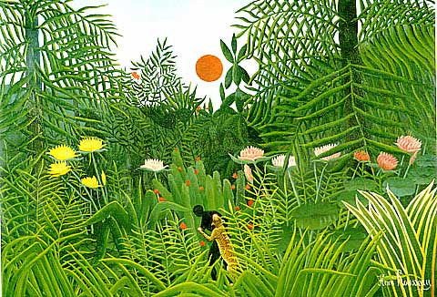 Henri Rousseau-Negro Attacked By A Jaguar