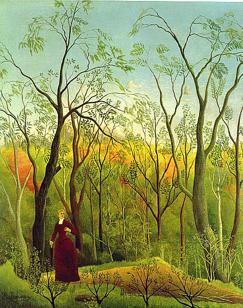 Henri Rousseau-The Walk In The Forest